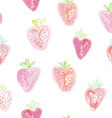 Strawberries seamless pattern - pastel colors vector