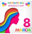 Happy womens day greeting or gift card vector