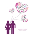 Vibrant floral scaterred couple in love vector