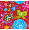 Insect floral print vector