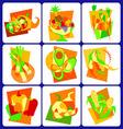 Abstract fruit modern vector