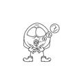 Emoticon sleep sketch vector
