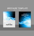 Tech blue flyer design vector