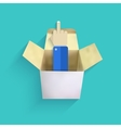 Modern finger up with box vector