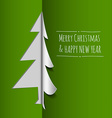 Merry christmas card made from paper vector
