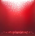 Abstract magic light on red background vector