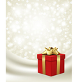 Christmas present background vector