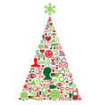 Christmas tree with social media icons vector