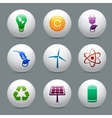 Energy and ecology buttons set vector