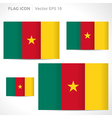 Cameroon flag template vector