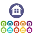 House flat icon vector