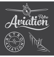 Retro aviation label vector