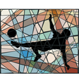 Kick mosaic vector