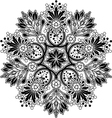 Radial geometric floral ornament vector