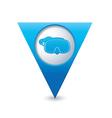 Mask symbol on map pointer blue vector