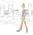Woman walking vector
