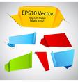 Set of announcement paper labels vector