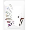 Colorful musical melodica with a white banner vector