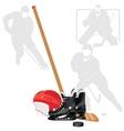 Hockey equipment vector