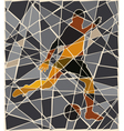 Soccer kick mosaic vector
