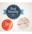 Old round retro vintage grunge stickers vector