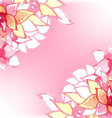Watercolor floral card vector