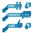 Social media stickers vector
