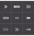Black arrows icons set vector