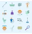 Hygiene icons set vector