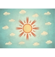 Vintage card with sun vector