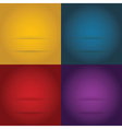 Set of abstract templates background vector