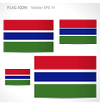 Gambia flag template vector