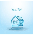 House house plan on a blue background building vector