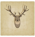 Deer old background vector