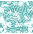 Monochrome seamless vintage flower pattern vector