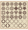 Set of vintage design elements and frames vector
