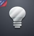 Light lamp idea icon symbol 3d style trendy modern vector