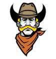 Cowboy head mascot vector
