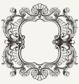 Elegant baroque ornate curves engraving frame vector