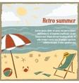 Summer vacation background retro vector