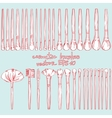 Set of cosmetic brushes vector