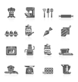 Bakery icon black vector