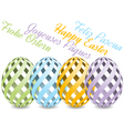 Easter background with four languages vector