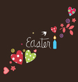 Easter card with art elements vector