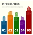 Building infographic set vector