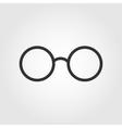 Glasses icon flat design vector