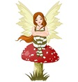 Young forest fairy vector