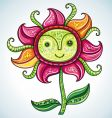 Cute eco flower vector