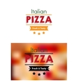 Italian pizza sign or poster vector