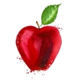 Red apple logo design template food or fruit icon vector